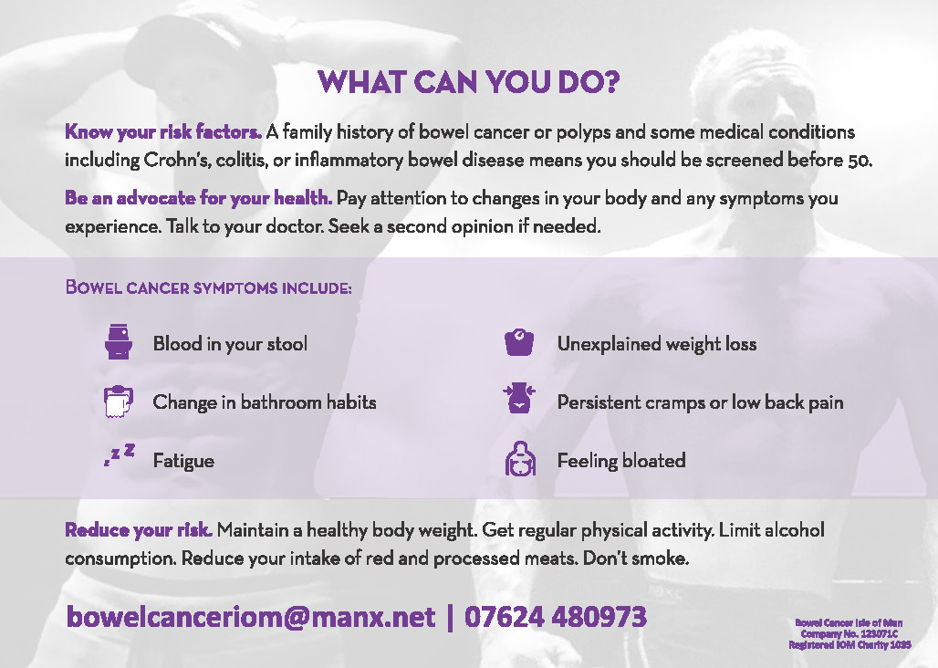 Bowel Cancer Age Is Not A Factor Bowel Cancer Isle Of Man
